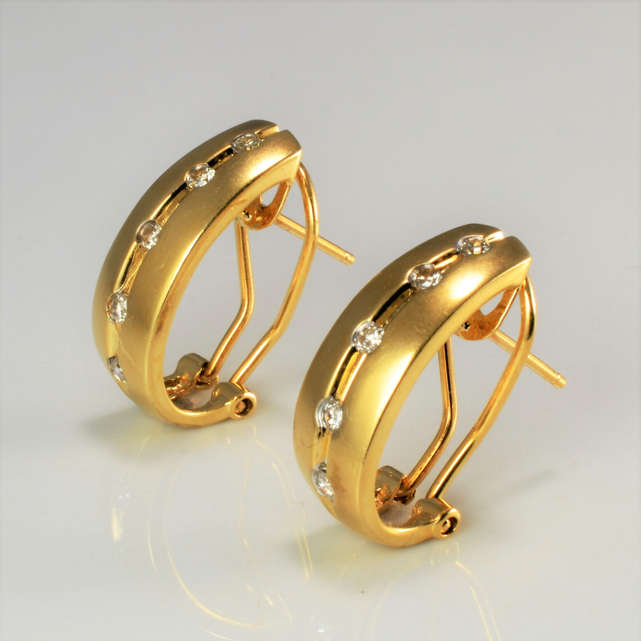 Tension Set Diamond Clip Earrings | 0.25 ctw |