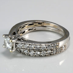 Milgrain Detailed Wedding Set | 0.81 ctw, SZ 5.75 |