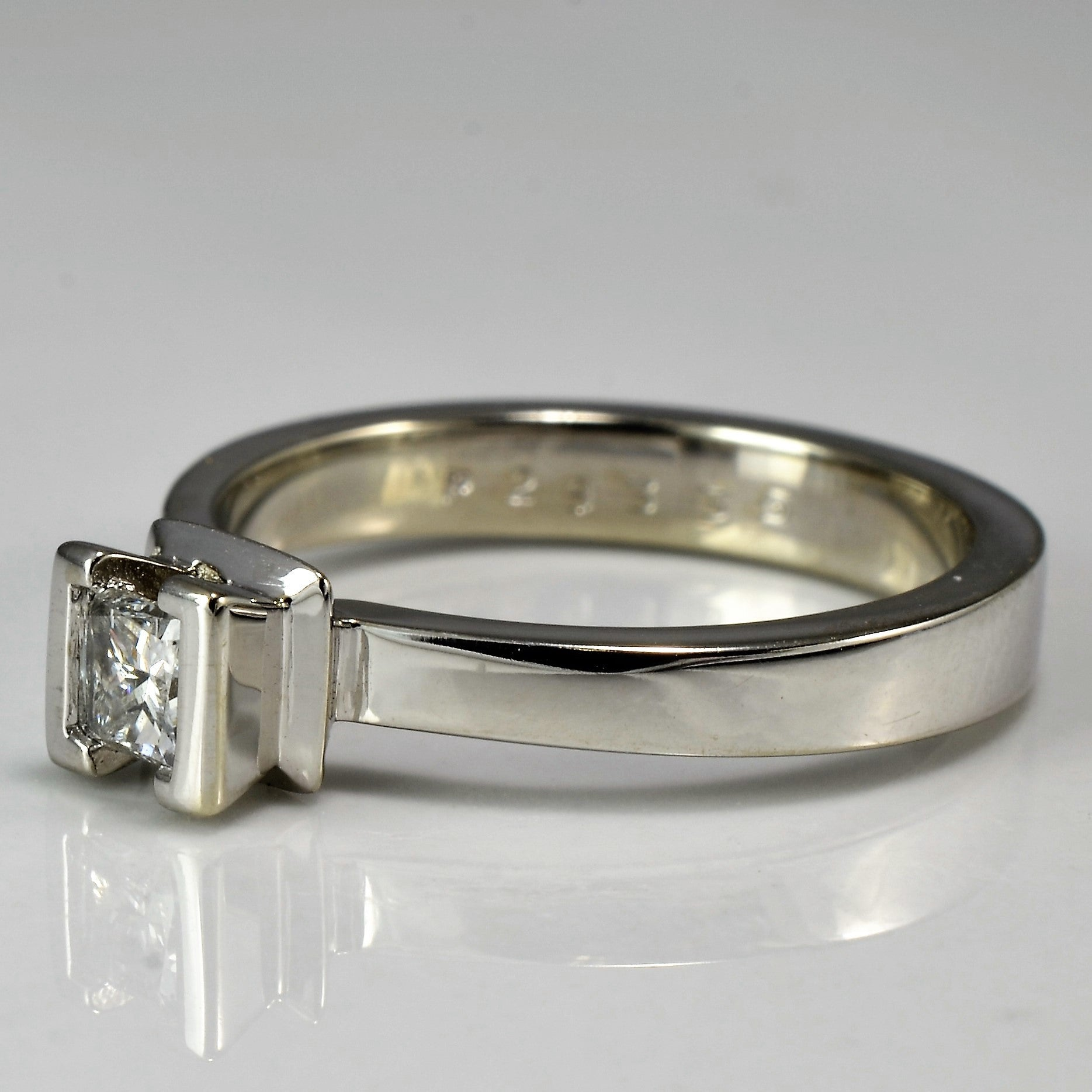 Unique Semi Bezel Set Princess Engagement Ring | 0.28 ct, SZ 6.25 |