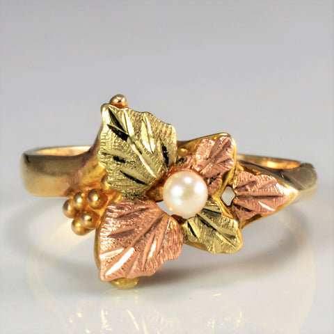 Tri Tone Gold Grapes & Leaf Ring | SZ 6.25 |