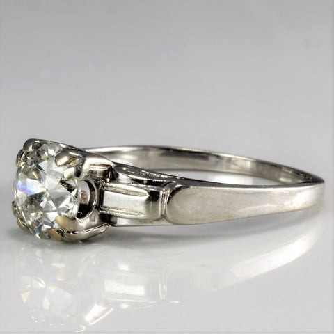 Edwardian Solitaire Diamond Vintage Engagement Ring | 1.08 ct, SZ 6.5 |