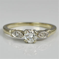 Birks Engagement Ring With Marquise Shaped Detail | 0.30  ctw, SZ 5.75 |