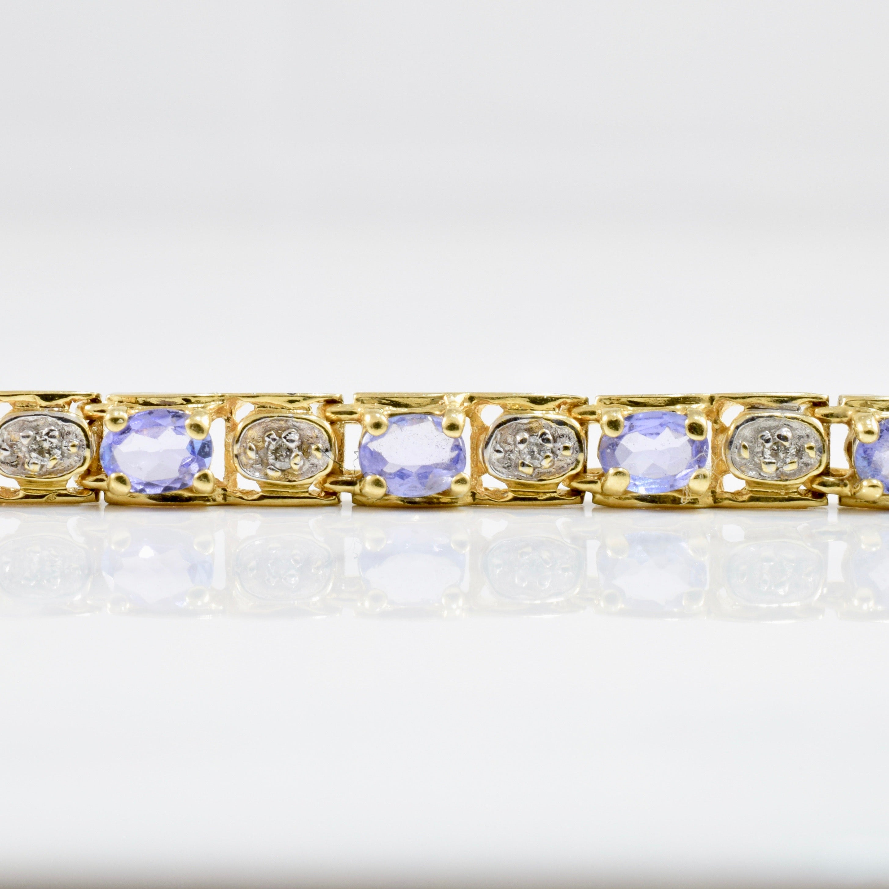 Tanzanite & Diamond Tennis Bracelet | 0.10 ctw SZ 7 |