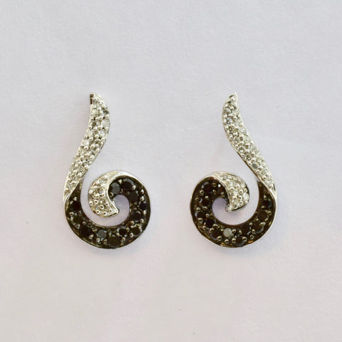 Black and White Drop Diamond Earrings | 0.32 ctw |