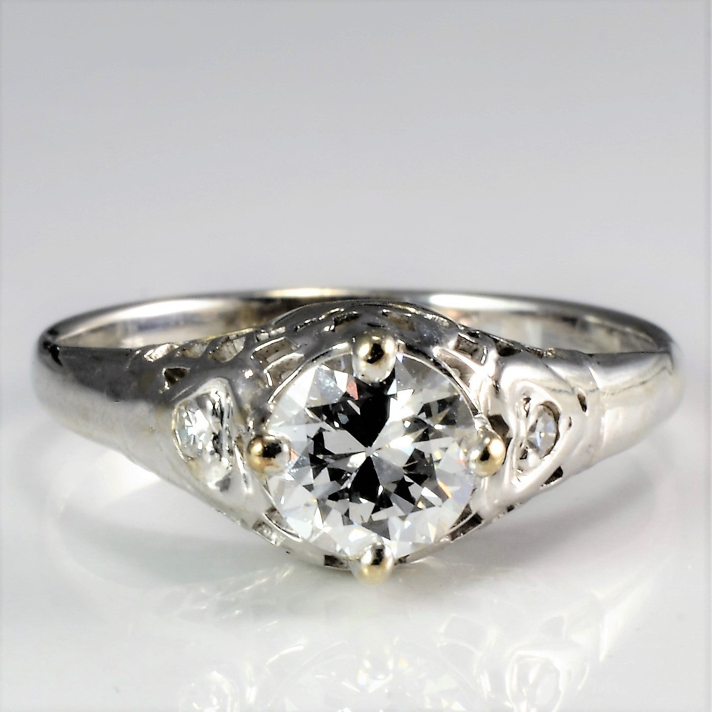 products five little stone diamond cut edwardian ring fine engagement antique hand