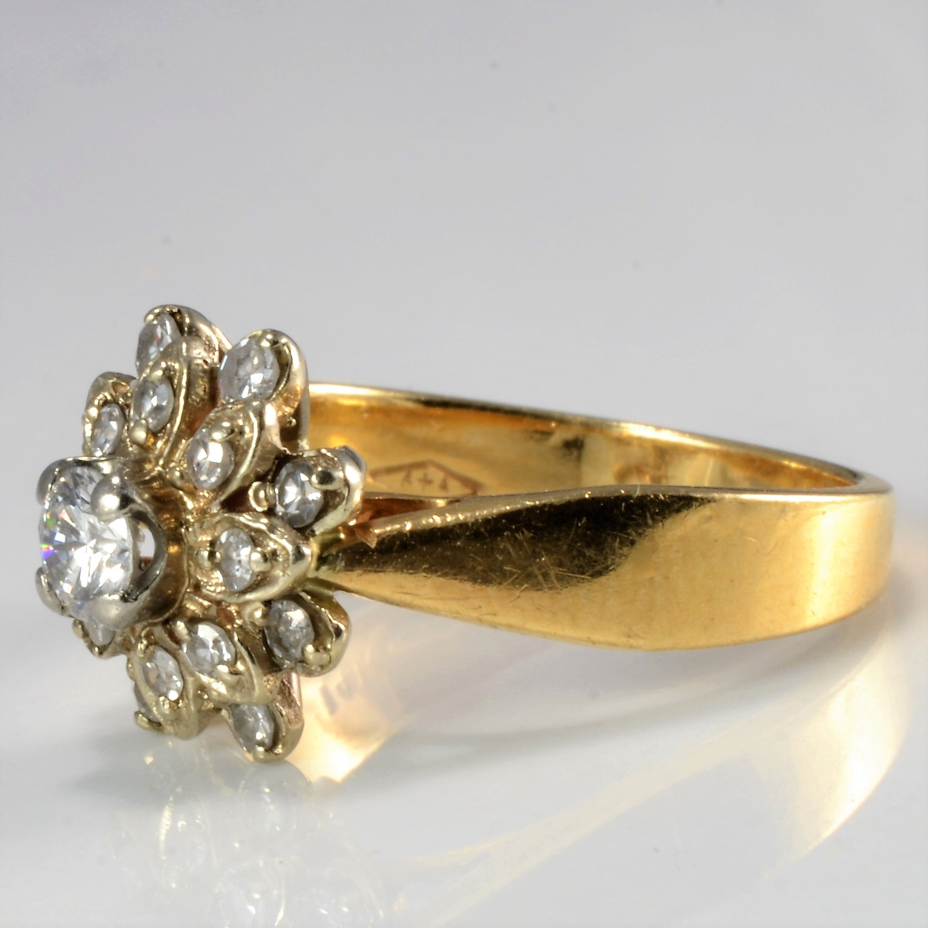 Cluster Diamond Flower Ring | 0.34 ctw, SZ 5.25 |