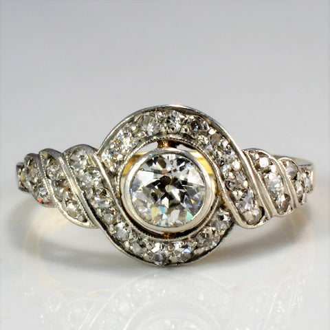 Art Deco Diamond Vintage Engagement Ring | 0.72 ctw, SZ 6.75 |