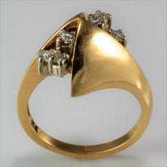 Abstract Diamond Cluster Ring | 0.24 ctw, SZ 6.25 |