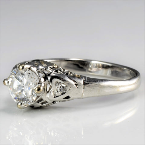 Vintage Three Stone Diamond Engagement Ring | 0.52 ctw, SZ 5.25 |