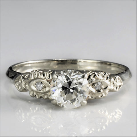 Vintage European Diamond Engagement Ring | 0.82 ctw, SZ 8 |
