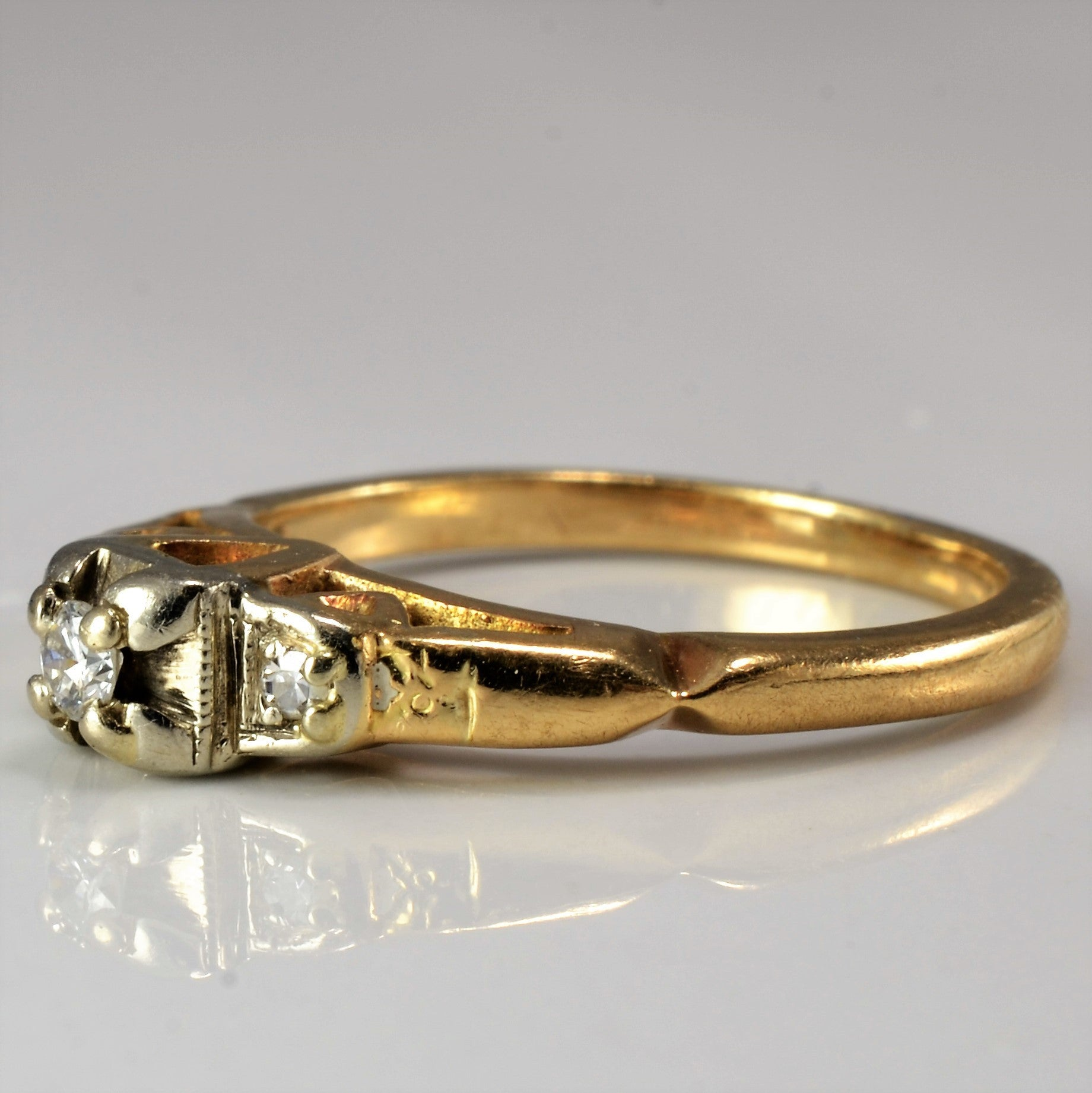 Retro Era Engagement Ring | 0.07 ctw, SZ 4.5 |