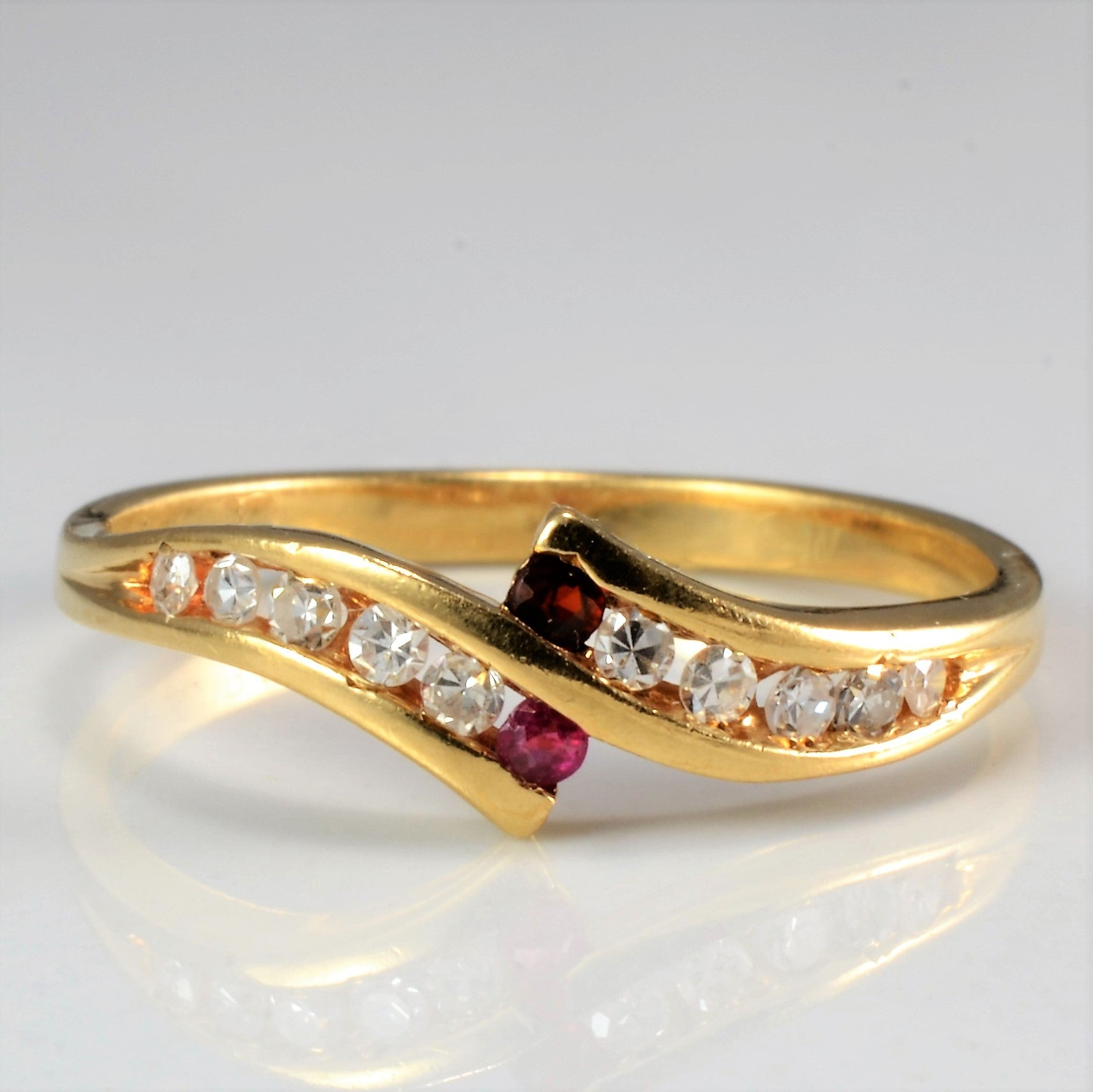 Bypass Channel Diamond Ring | 0.12 ctw, SZ 7 |