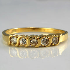 Five Stone Diamond Wedding Band | 0.25 ctw, SZ 7.25 |