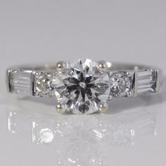 Stunning Diamond Detailed Engagement Ring | 1.48 ctw, SZ 5.5 |
