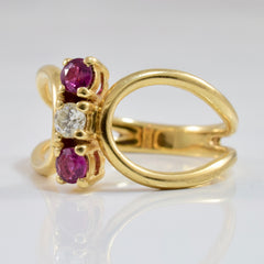 Diamond and Ruby Ring | 0.10 ctw SZ 6.25 |