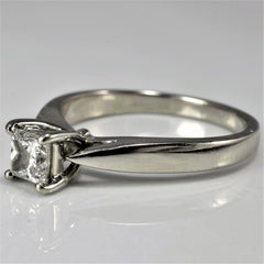 Classic Tapered Princess Engagement Ring | 0.45 ct, SZ 6.5 |