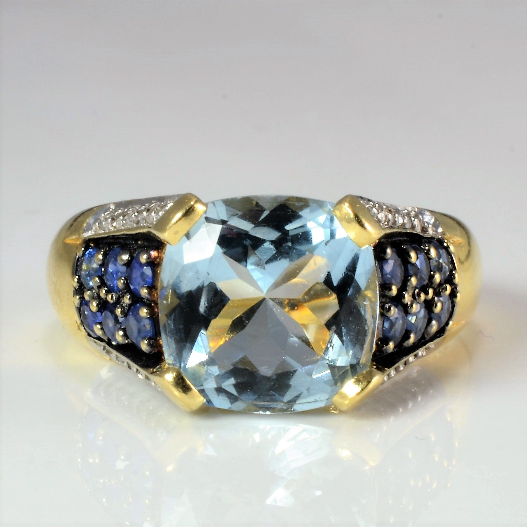 High set Multi Gemstone Ladies Ring | 0.12 ctw, SZ 5.75 |