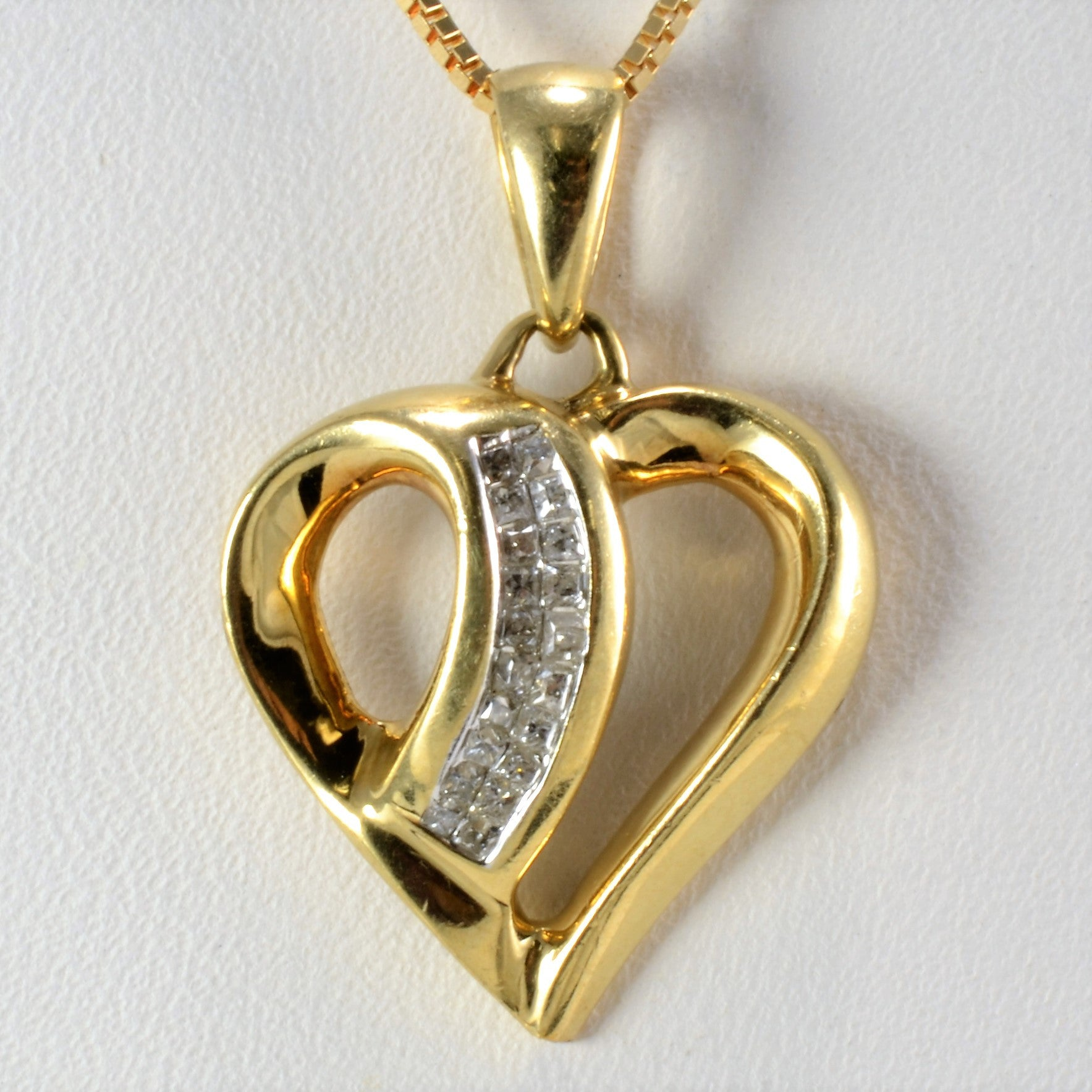 Heart Shape Diamond Pendant Necklace