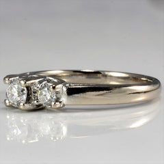 Round Brilliant Three Stone Engagement Ring | 0.45 ctw, SZ 6.25 |