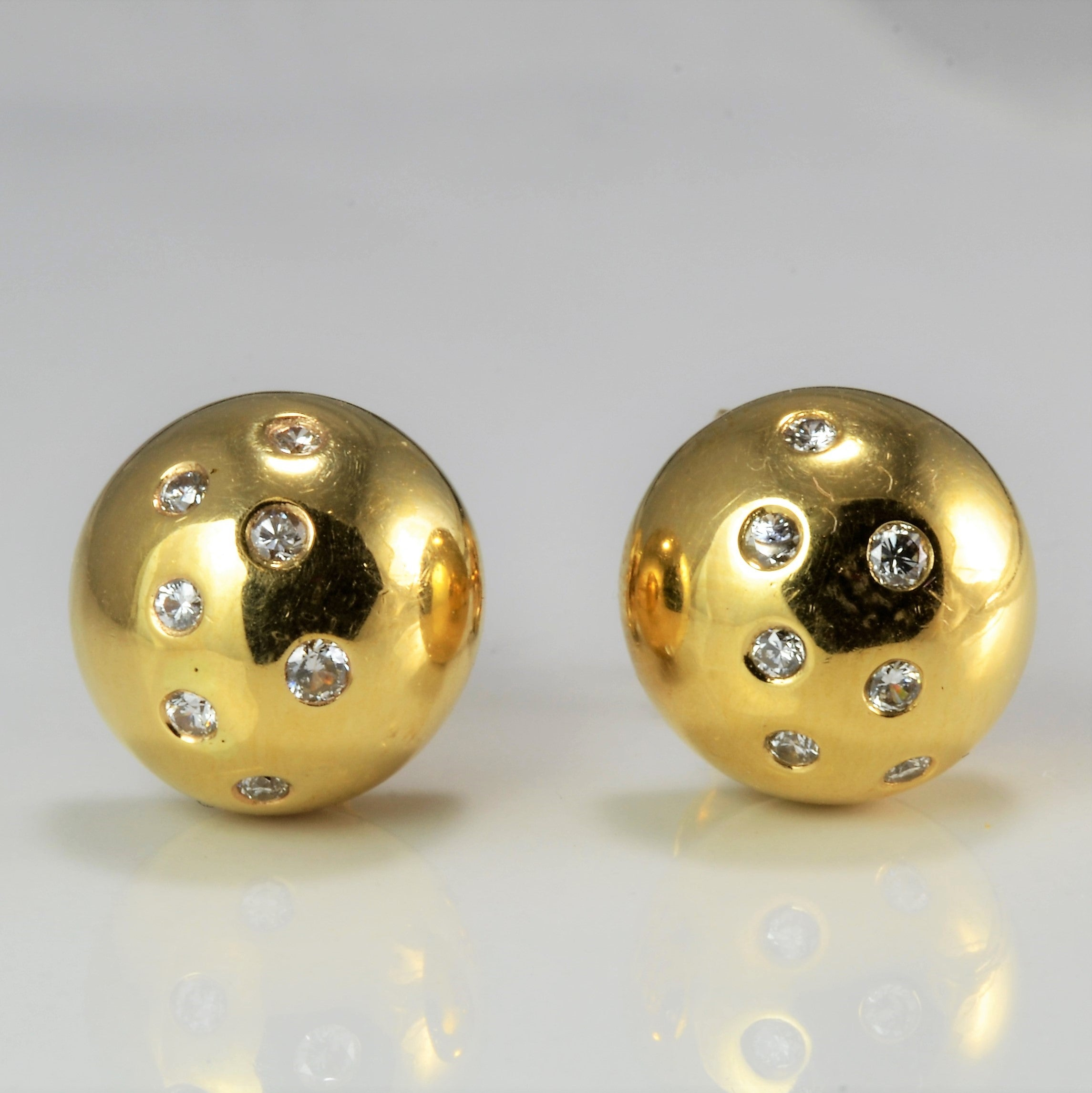 Gypsy Diamond Dome Stud Earrings | 0.28 ctw |