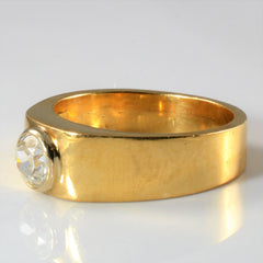 Bezel Set Old European Diamond Ring Circa 1950s | 0.81ct | SZ 10.5 |