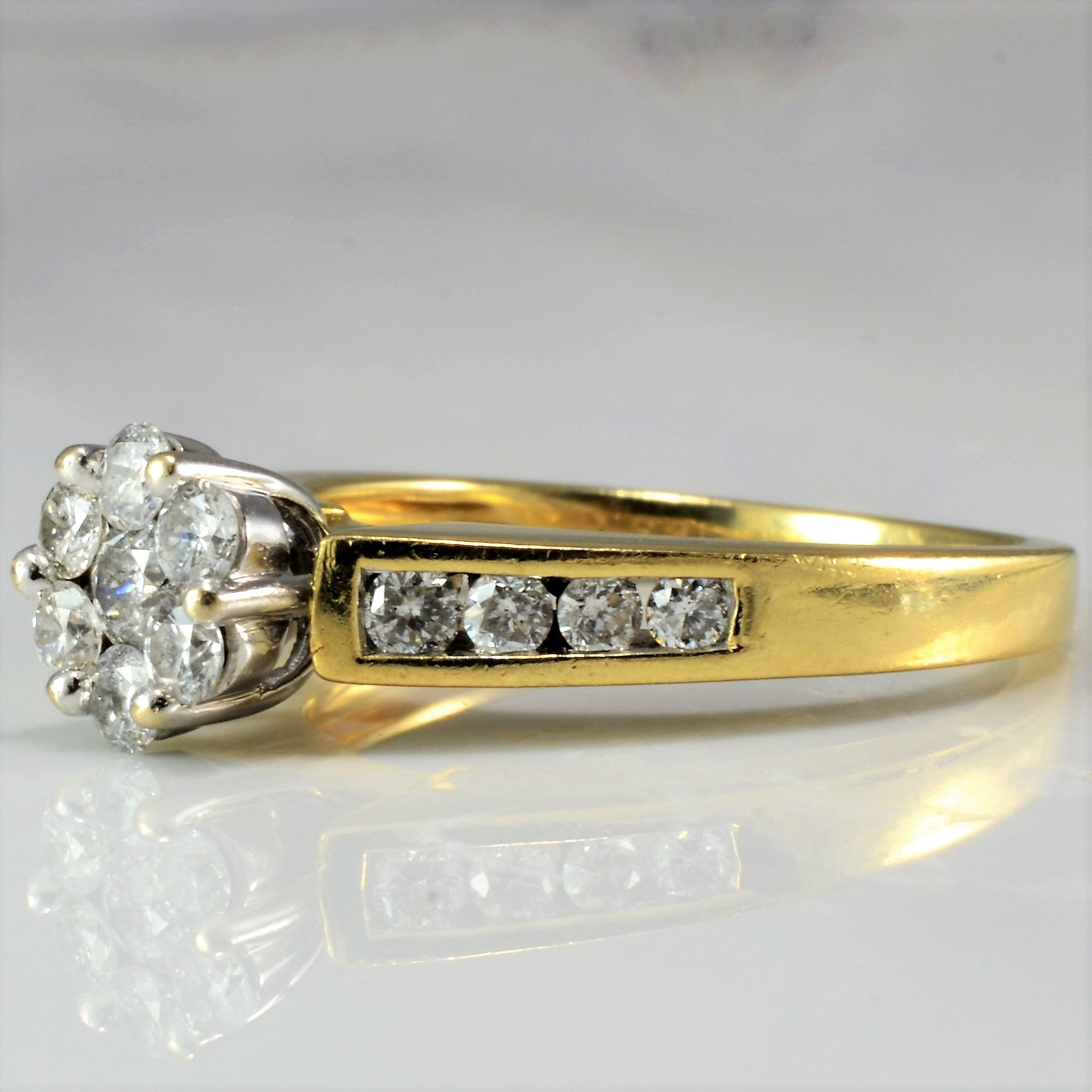 Cluster Diamond Engagement Ring | 0.55 ctw, SZ 7 |
