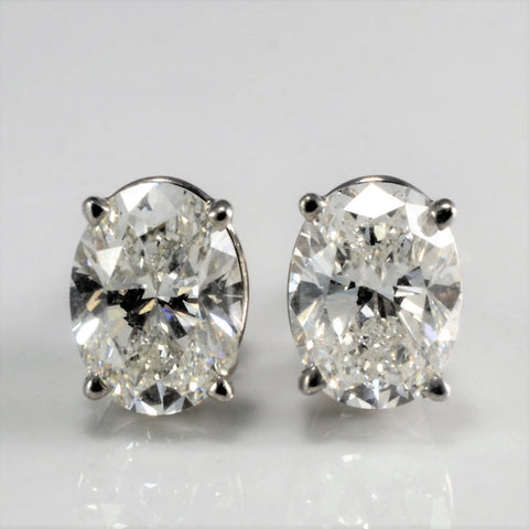 Oval Diamond Stud Earrings | 2.15 ctw |