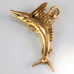 Yellow Gold Sword Fish Pendant