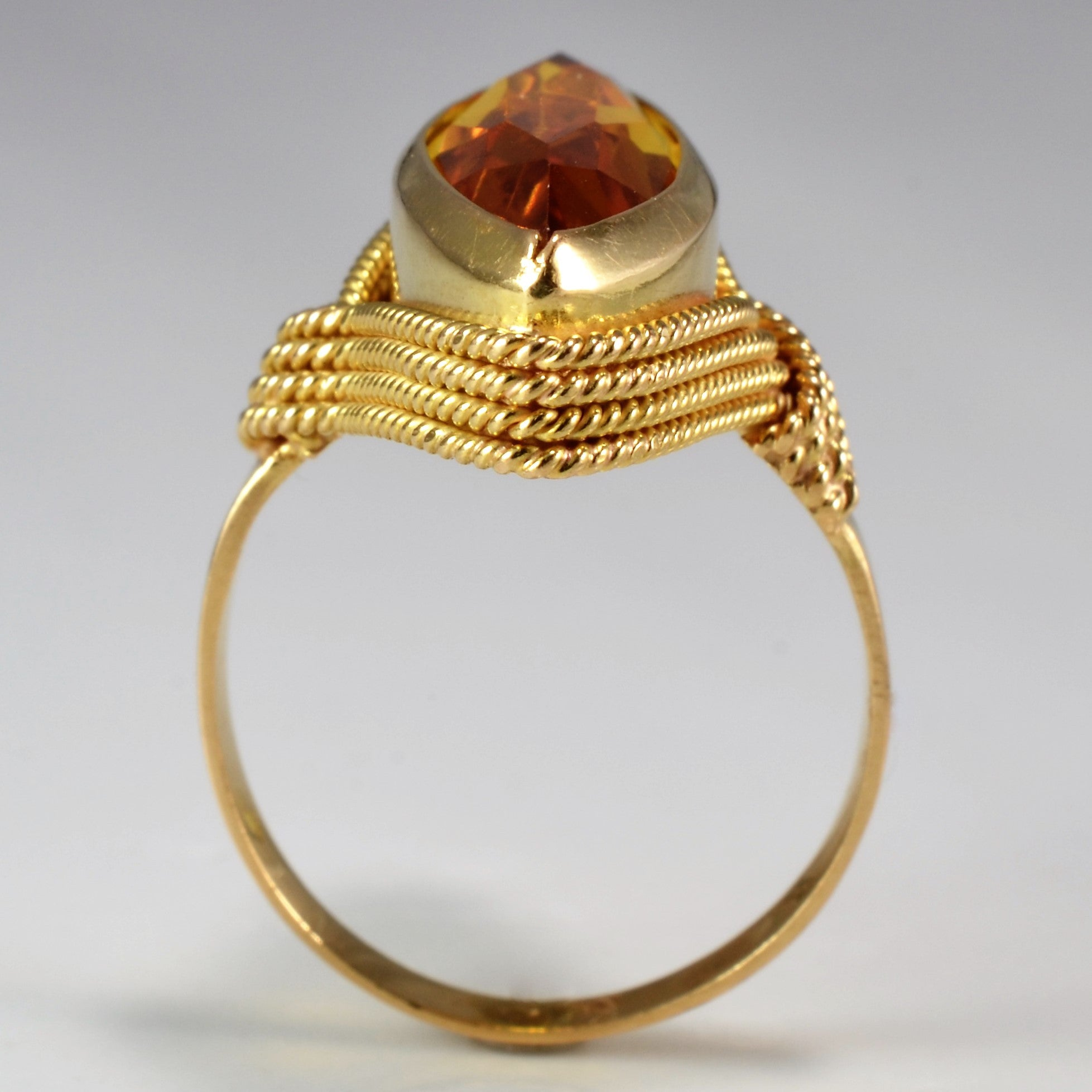 Marquise Cut Hessonite Garnet Ring | SZ 6.75 |