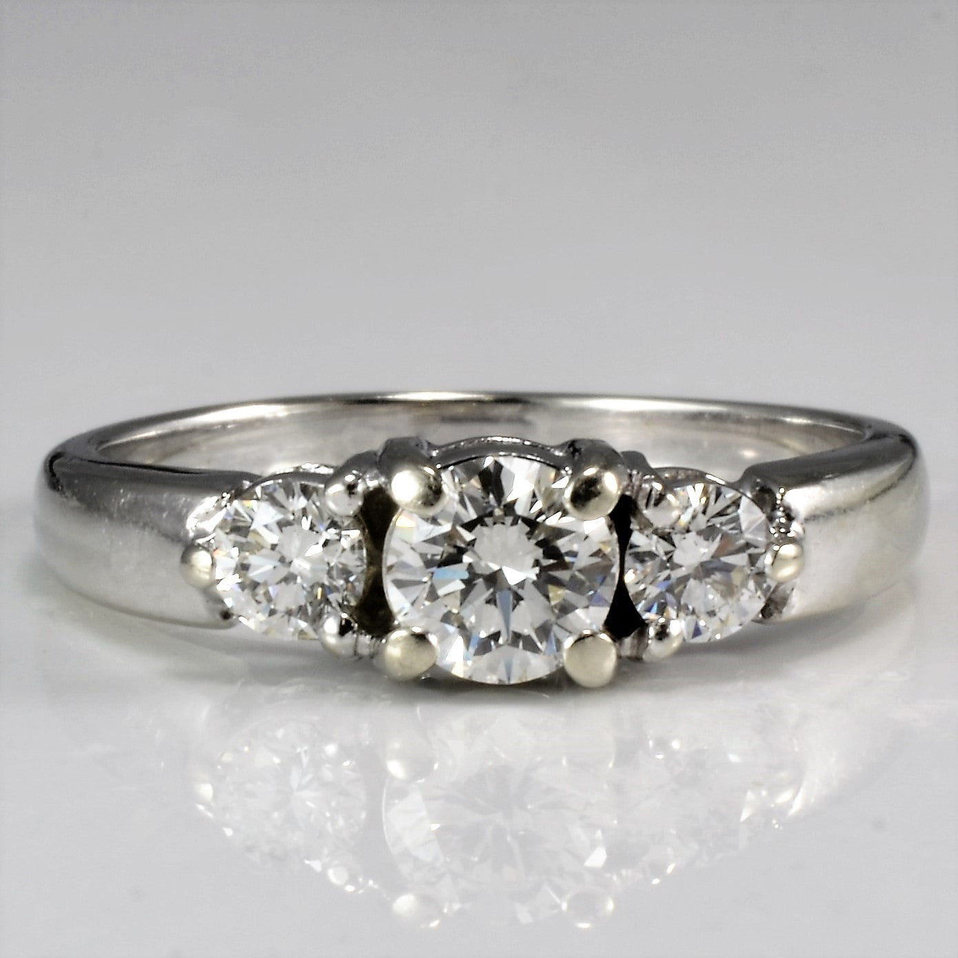 Elegant Three Stone Engagement Ring | 0.55 ctw, SZ 5.5 |