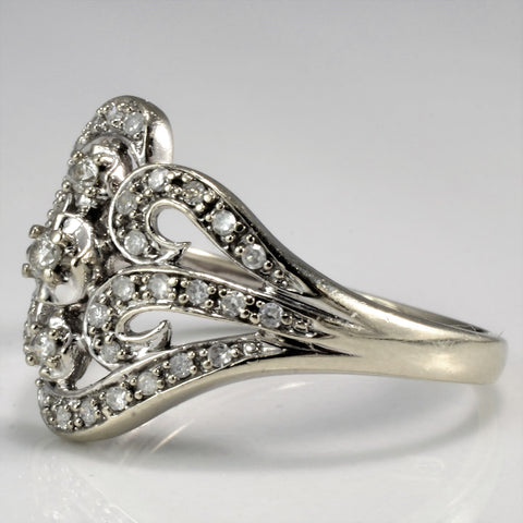 Elegant Filigree Diamond Wedding Ring | 0.27 ctw, SZ 6.5 |