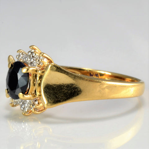 Tapered Sapphire & Diamond Ladies Cocktail Ring | 0.01 ctw, SZ 5.25 |