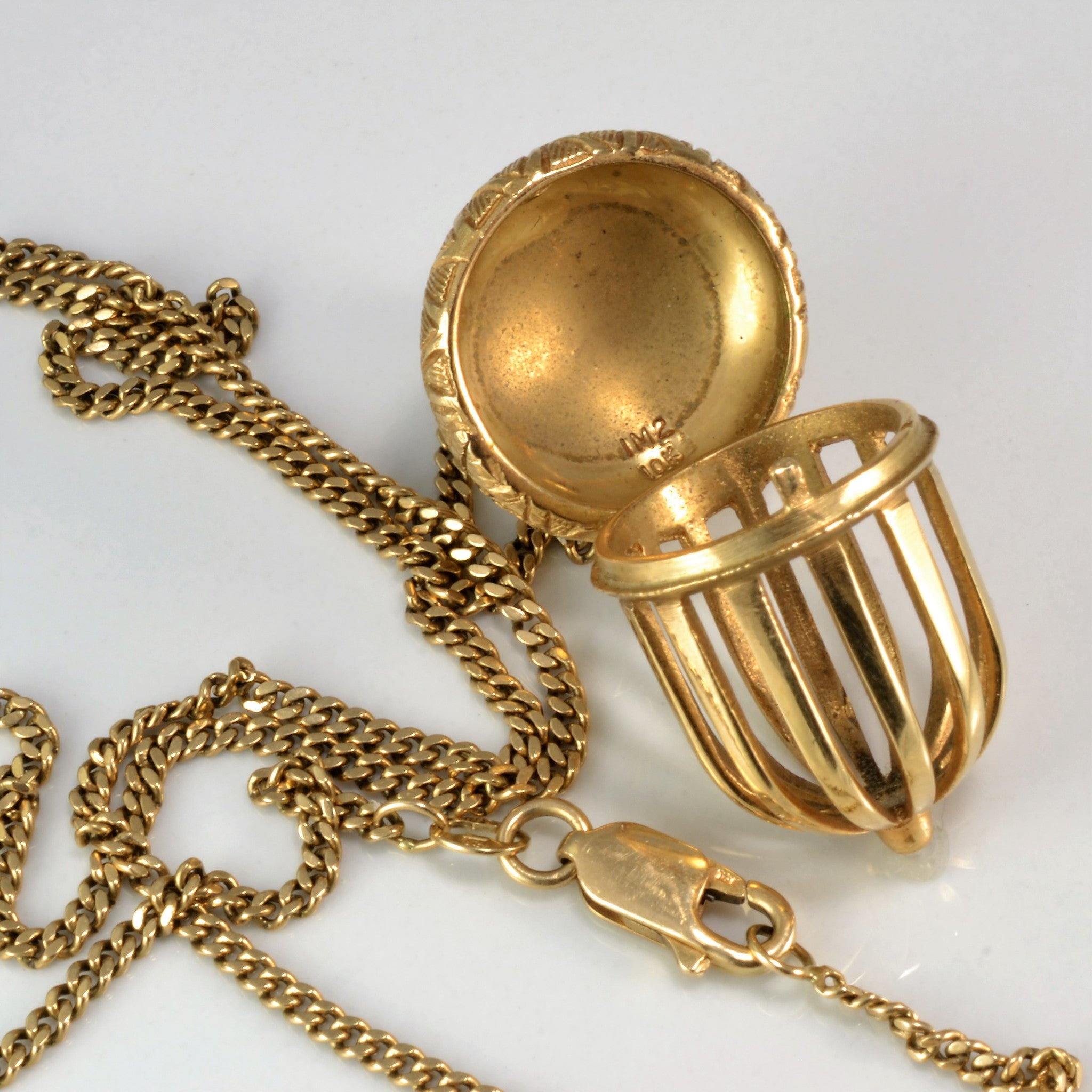 Opening Gold Acorn Necklace | 20"
