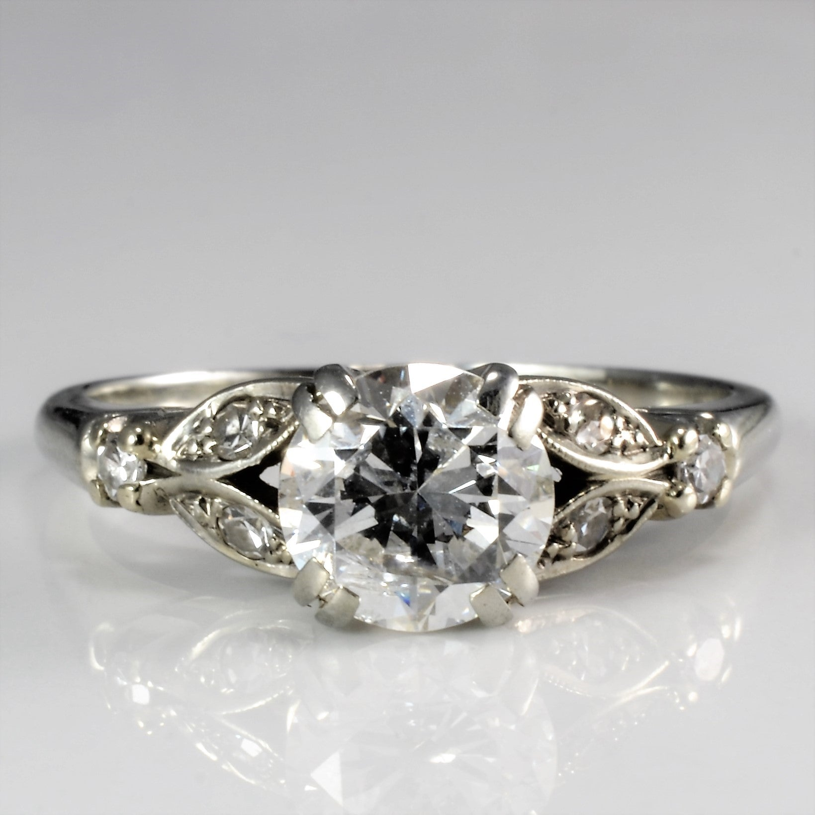 Vintage Retro Diamond Engagement Ring | 1.06 ctw, SZ 5.5 |