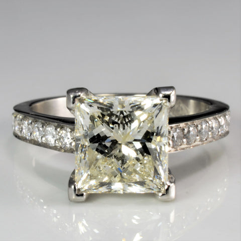 Princess Solitaire & Accents Diamond Engagement Ring | 2.40 ctw, SZ 4 |