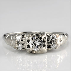 Retro Diamond Engagement Ring | 0.19 ctw, SZ 5.25 |