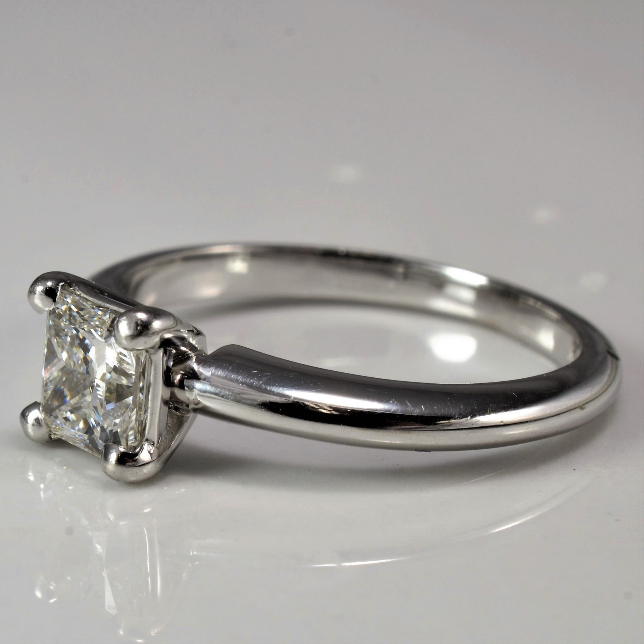 Classic Princess Cut Solitaire Engagement Ring | 0.65ct | SZ 5 |