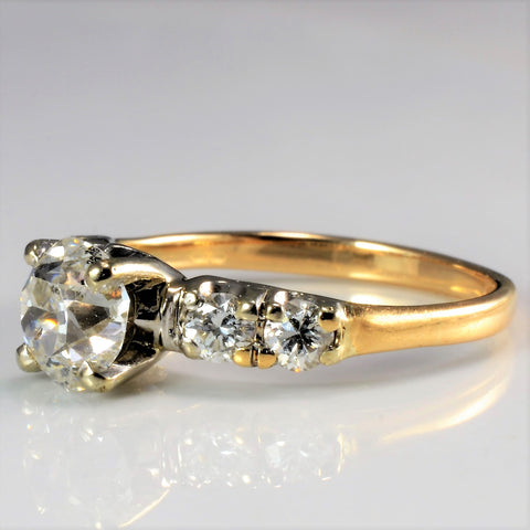 European Diamond Vintage Engagement Ring | 0.96 ctw, SZ 4.25 |
