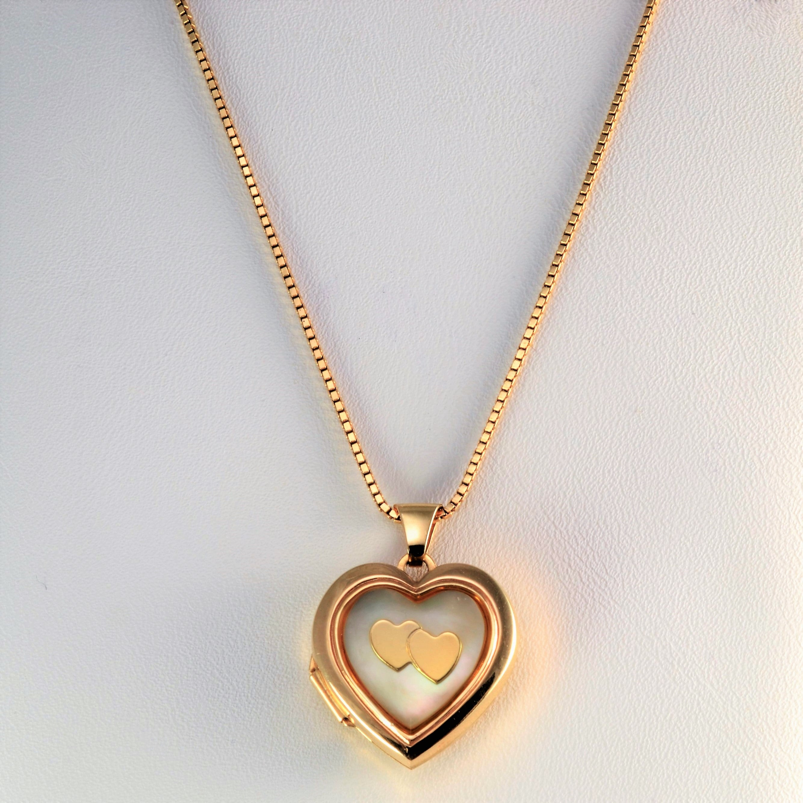113051988 Heart Locket Box Chain Ladies Necklace | 18''| – 100 Ways
