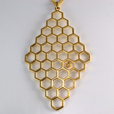 'Birks' Bee Chic Large Hexagons Necklace | 28"