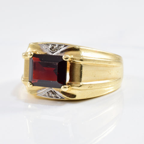 Men's Garnet & Diamond Ring | 2.50ct, SZ 10.25 |