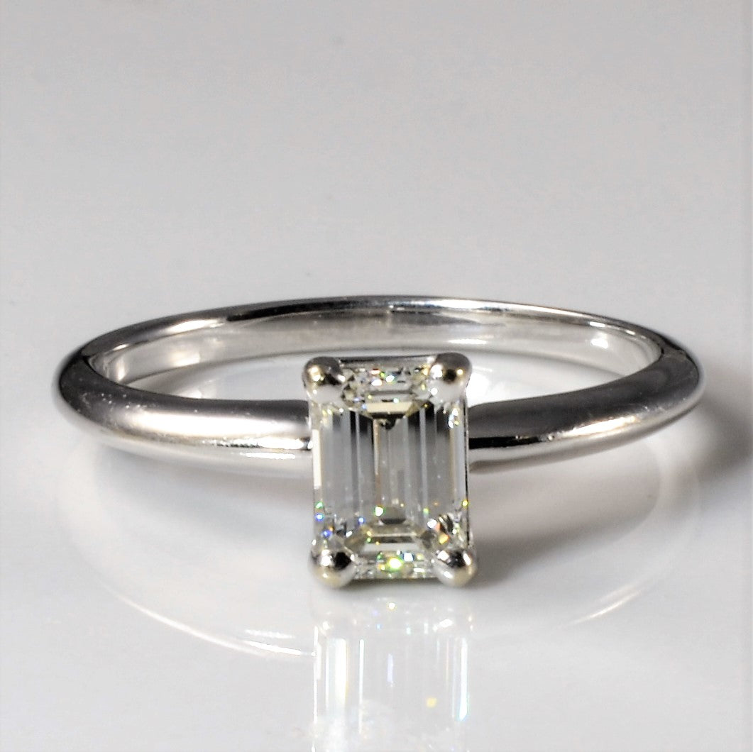 Solitaire Emerald Cut Diamond Engagement Ring | 0.80ct | SZ 7.75 |
