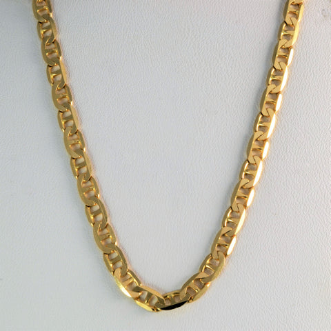14K Yellow Gold Anchor Chain | 18''|