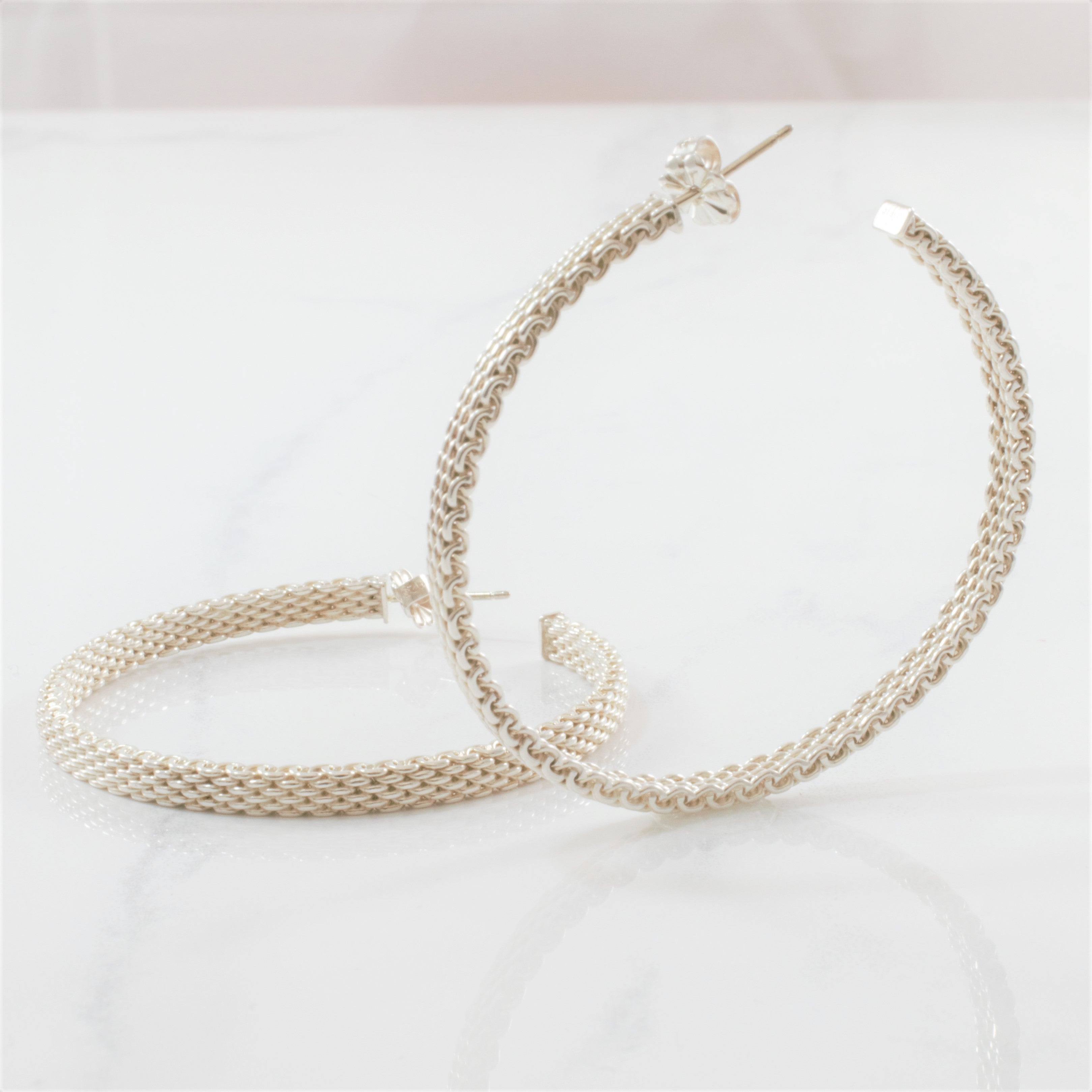 'Tiffany & Co.' Woven Hoops
