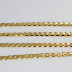 10K Yellow Gold Anchor Chain | 22''|