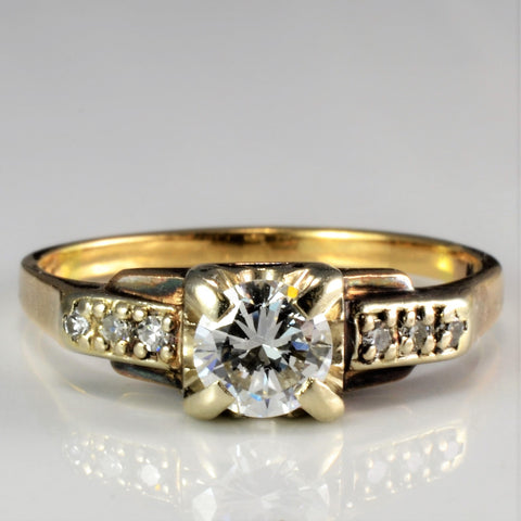Elegant Retro Diamond Engagement Ring | 0.46 ctw, SZ 6.75 |