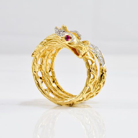Wrap Around Dragon Ring | 0.15 ctw SZ 6 |