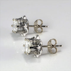 Six Prong Petal Style Diamond Stud Earrings | 1.25 ctw |