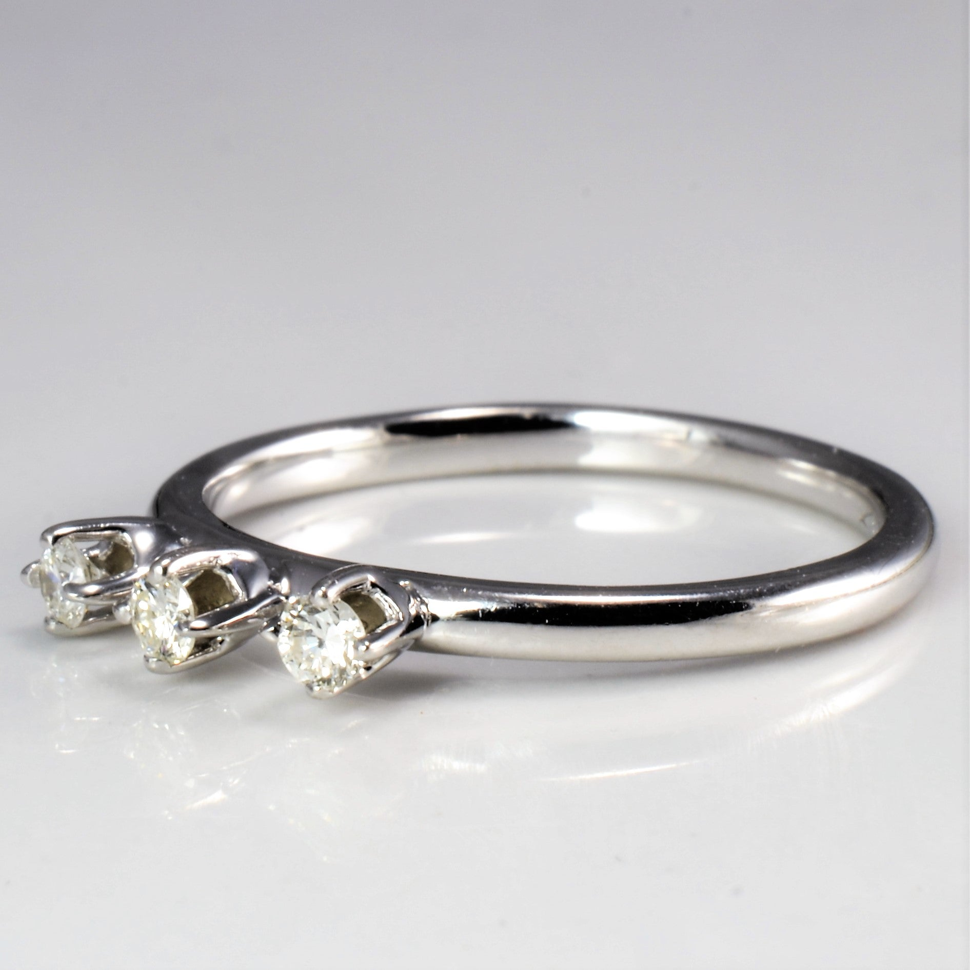 Three Stone Diamond Ring | 0.12 ctw, SZ 6 |