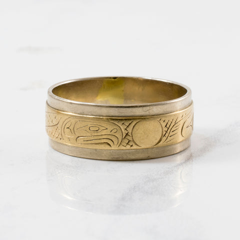 'Lloyd Wadham' Eagle & Moon Gold Band | SZ 9.25 |